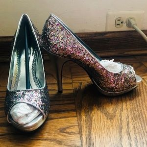 Rampage Shoes - BRAND NEW Multicolored Sequin Heels